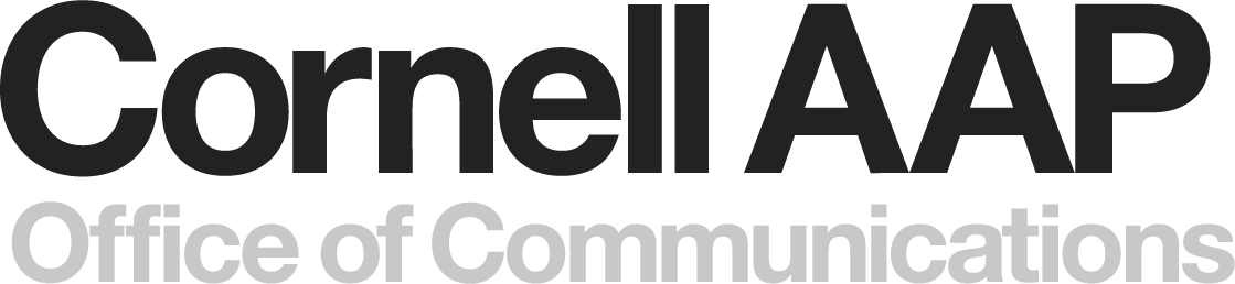 logo with Cornell AAP and Office of Communications