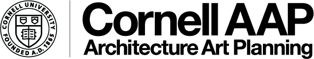 logo with Cornell seal and Cornell AAP Architecture Art Planning