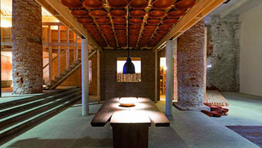 Full scale facsimile of the Wall House at 13th Architecture Bienniale in Venice, 2012