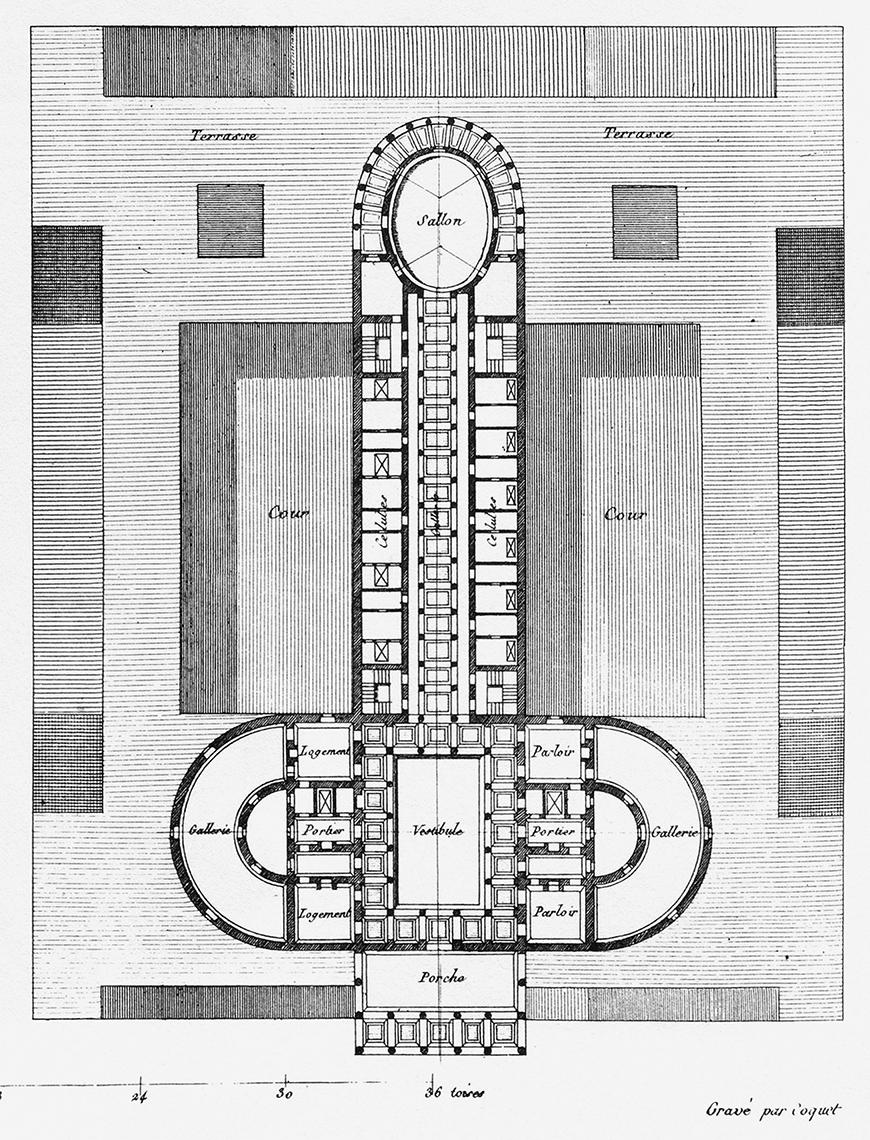 gray-scale drawing of a floorpan