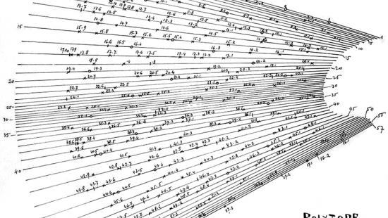 drawing of lines and numbers