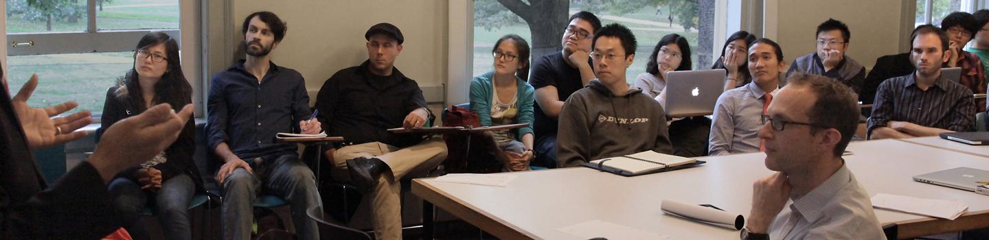CRP students in class listening to lecturer
