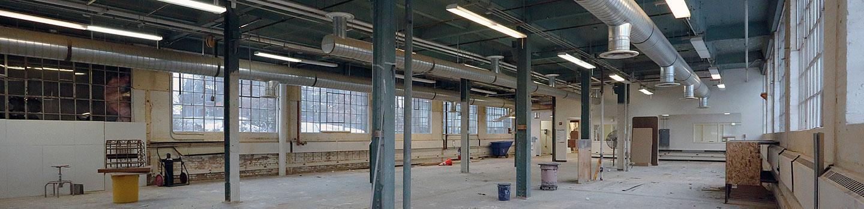 empty ground floor of Rand Hall