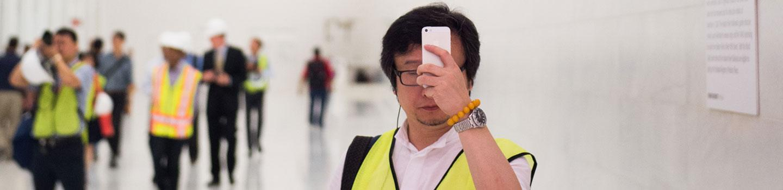 Cornell AAP Executive Education taking selfie at World Trade Center Transportation hub