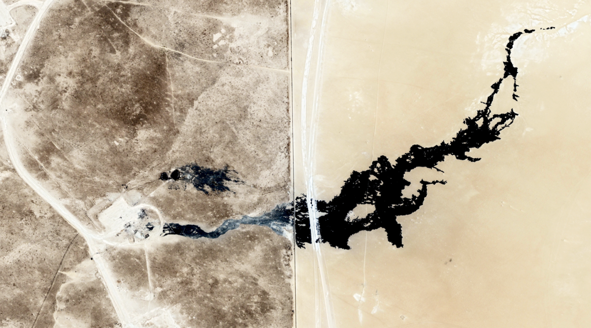 topographical view from space of Kuwait Pavillion
