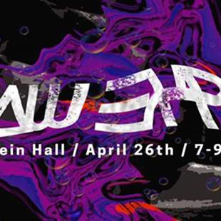 promotional sign with Raw Expo Milstein Hall/April 26th/ 7-9pm written on it