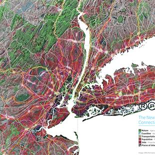 topographical map of the New York City tri-state area