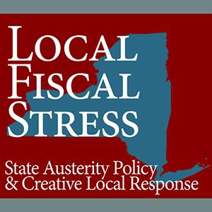 new york state with local fiscal stress written on it