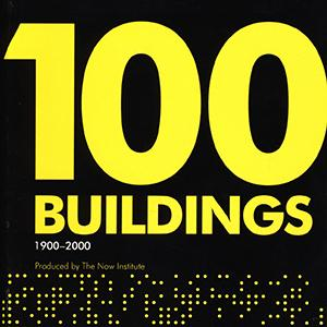 book cover that says 100 buildings 1900-2000