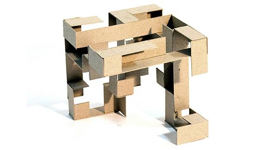 cardboard cube model