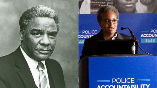 Harold Washington and Lori Lightfoot