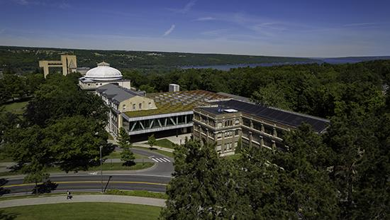 aerial view of AAP buildings