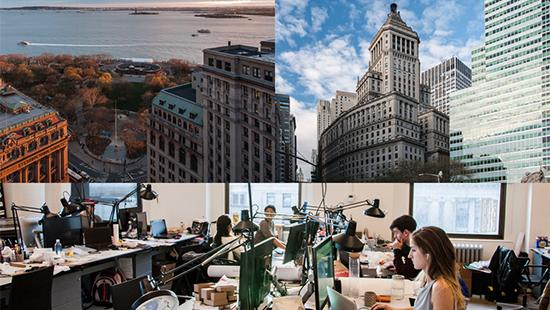 images of New York City and the AAP NYC studios