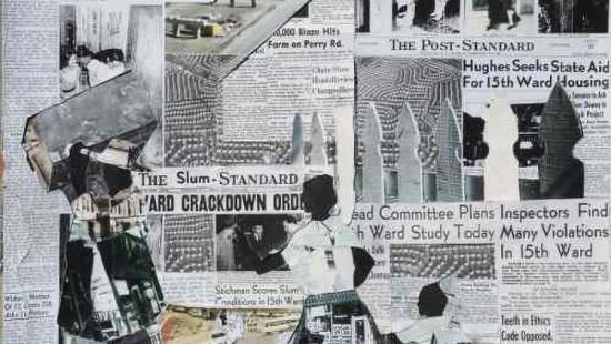 newspaper clipping collage
