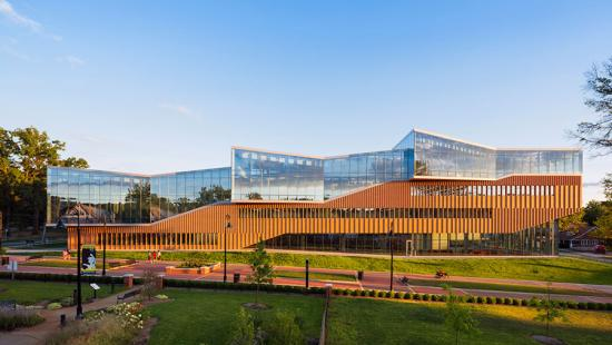 Kent State Center for Architecture and Environmental Design, by WEISS/MANFREDI, photo: Albert Vecerka