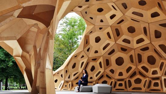 Outdoor structure by Achim Menges