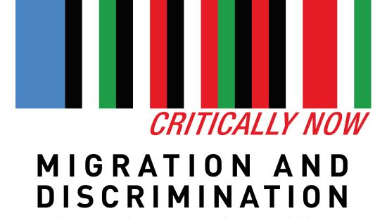Image of the blue, black, white, green, and red striped Critically Now logo