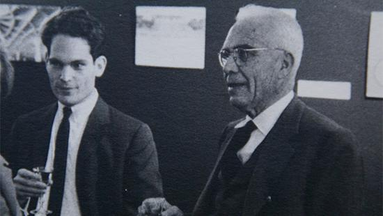 An old black and white photo of Einaudi and Nervi