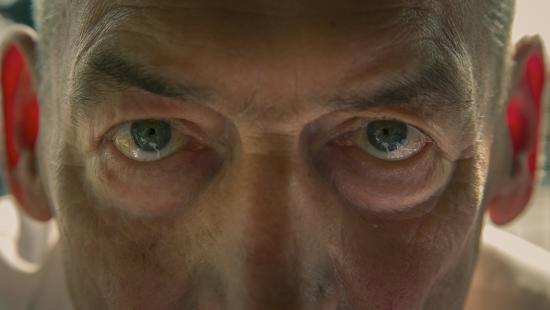 Close up of man's eyes
