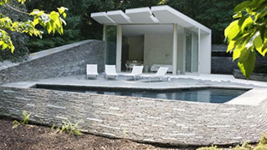 Bedford pool house by Joel Sanders