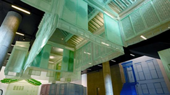 Installation view of Takahiro Iwasaki (2010), Phenotypic Remodeling, mixed media