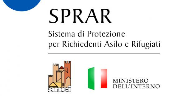 graphic that says Sprar sistema di protezione per richiendenti asilo e rifugiati