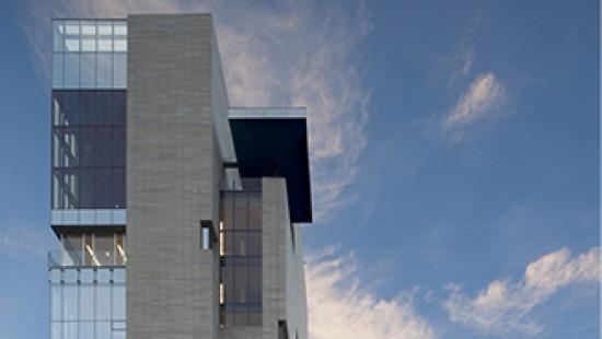 Upper portion of the Reva and David Logan Center for the Arts, University of Chicago, 2012.