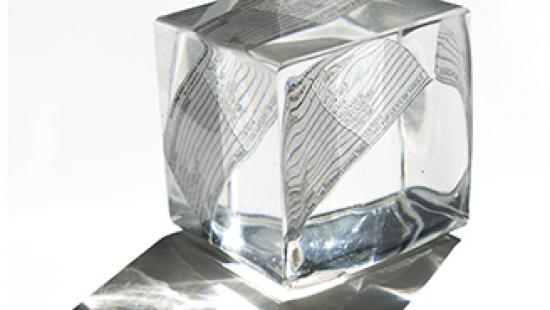 Photograph of a cube by Mariamma Kambon.