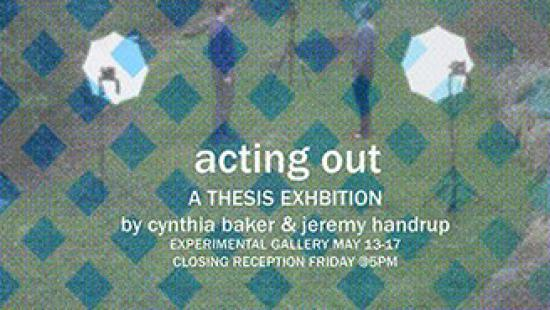 Poster for Cynthia Baker and Jeremy Handrup Exhibition.