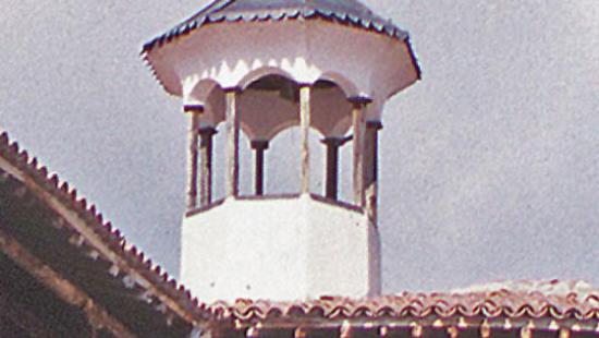 View of a roof with a lookout