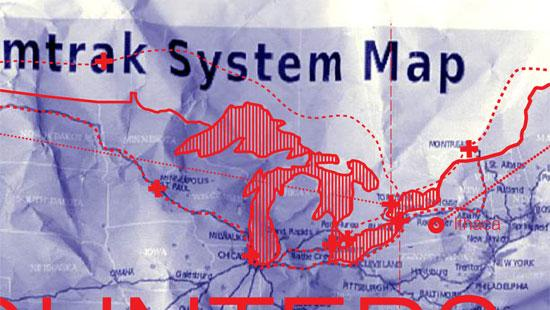 Map of northern United States and southern Canada