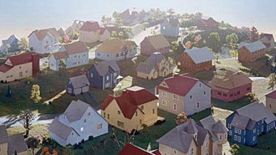 James Casebere. Landscape with Houses (Dutchess County, NY) #1 2009