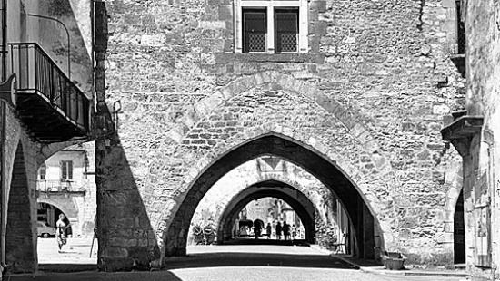 Series of brick archways