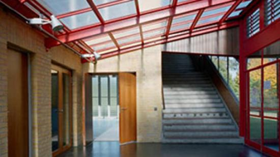 Interiour of ADGB Trade Union School in Bernau, Germany.
