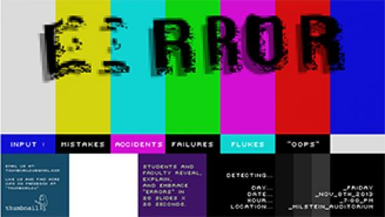Poster for error: an event by thumbnail.