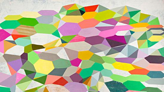 multi colored painting of geometric shapes