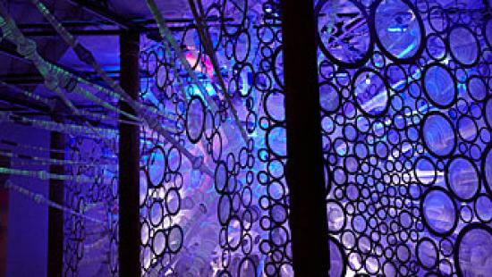 myThread Pavilion schematic rendering, Jenny E. Sabin; Jenny Sabin Studio; client: Nike Inc. for Nike FlyKnit Collective