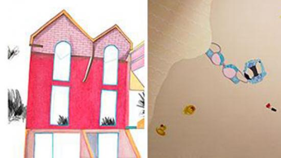 New painting and drawings by Zoe Gutterman and Soo Yeon Chai and Christina Ko.