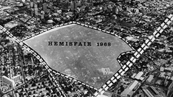 Land area covered by HemisFair 1968