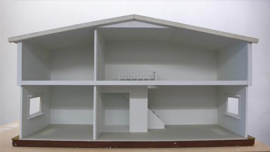 Image of a white empty model of a house.