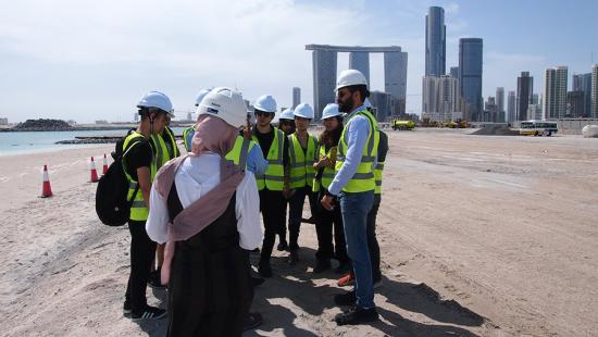 Students on a field trip to Abu Dhabi