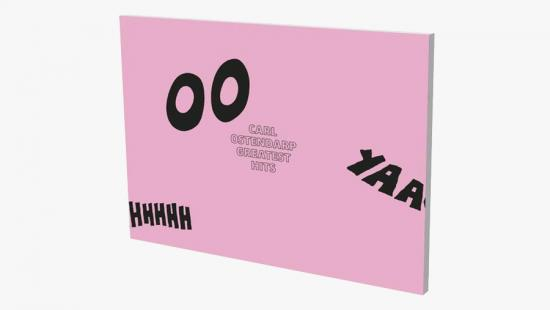A book with a pink cover and black lettering.