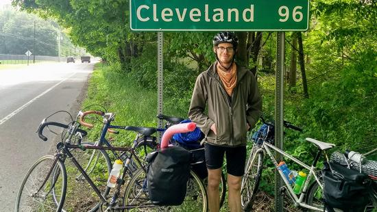 Tim Dehm (M.R.P./M.L.A. '20) bicycle trip to Cleveland summer 2019