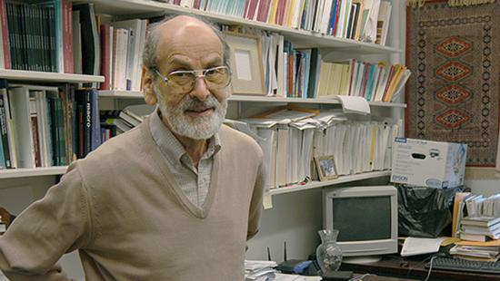 Professor Emeritus Sid Saltzman in his office, June 2006