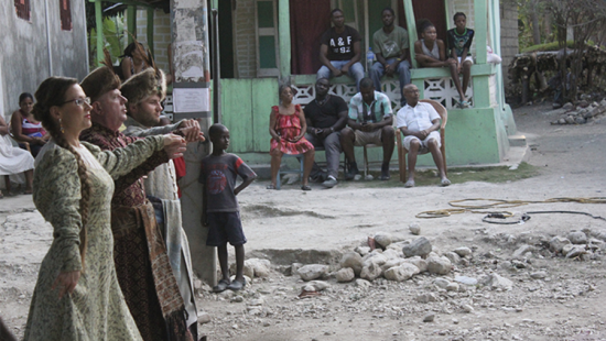 Video still from Halka in Haiti, by Joanna Malinowska and C.T. Jasper.
