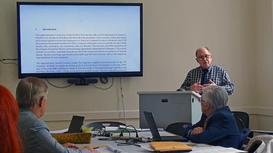 Kieran Dongahy speaks at Advances in Macroeconomic Dynamics: A Workshop on Theories, Models, and Methods, summer 2019