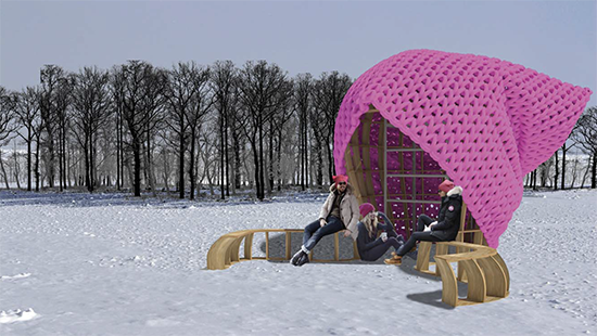 Pussy Hut, work by Martin Miller and Mo Zheng