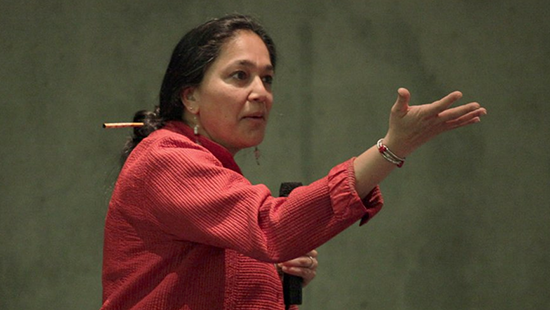 Neema Kudva giving a presentation