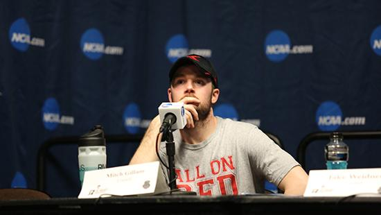 mitch gillam at press conference mic table