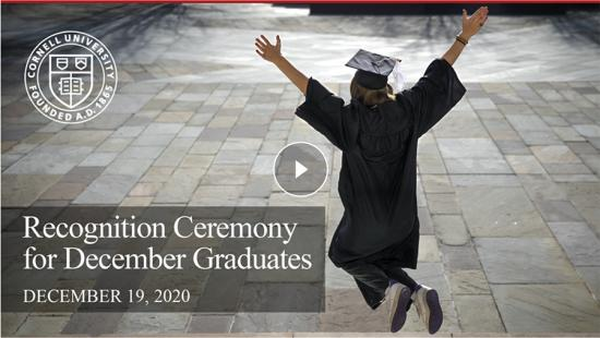Person in a cap and gown jumping over paving stones